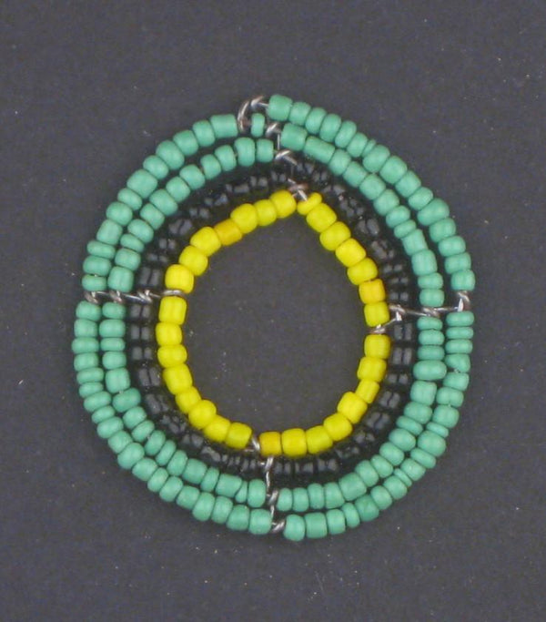 Hot Deal: Green Annular Maasai Beaded Pendant - The Bead Chest