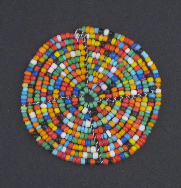 Rainbow Sun Maasai Beaded Pendant - The Bead Chest