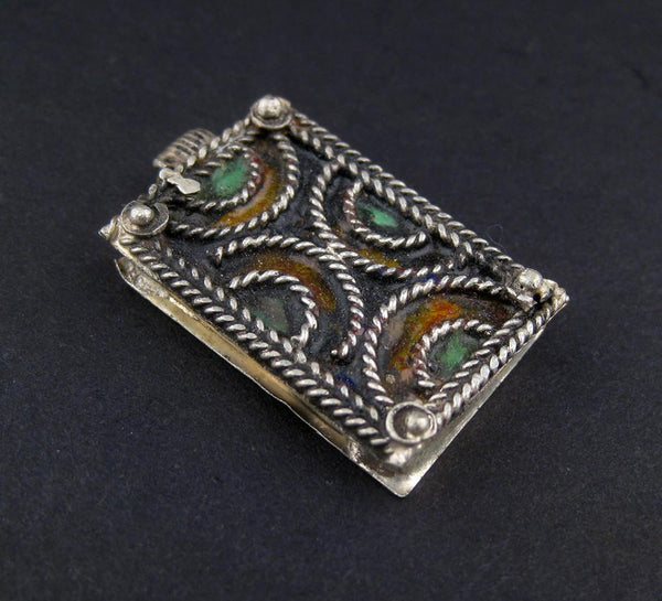 Rectangular Semisphere Berber Ornament (34x19mm) - The Bead Chest