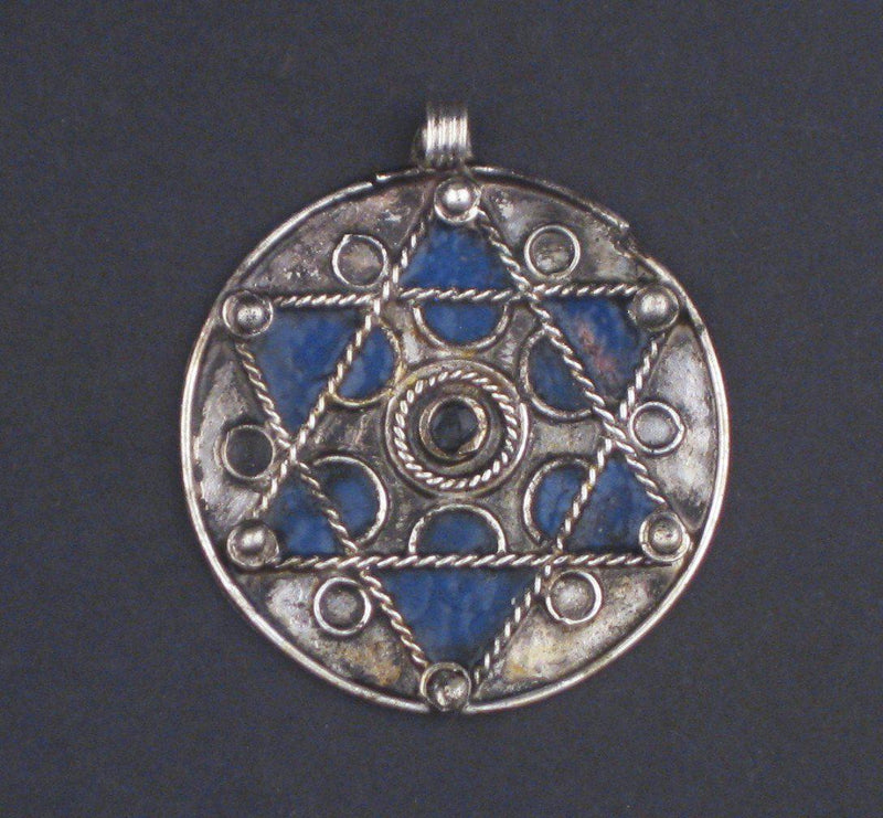 Authentic Jewish Berber Star of David Pendant - The Bead Chest