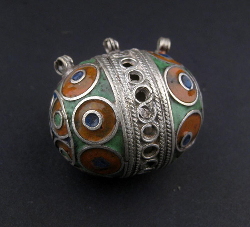 Multicolor Fancy Berber Bead Pendant - The Bead Chest