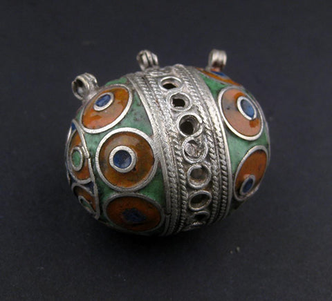 Image of Multicolor Fancy Berber Bead Pendant - The Bead Chest