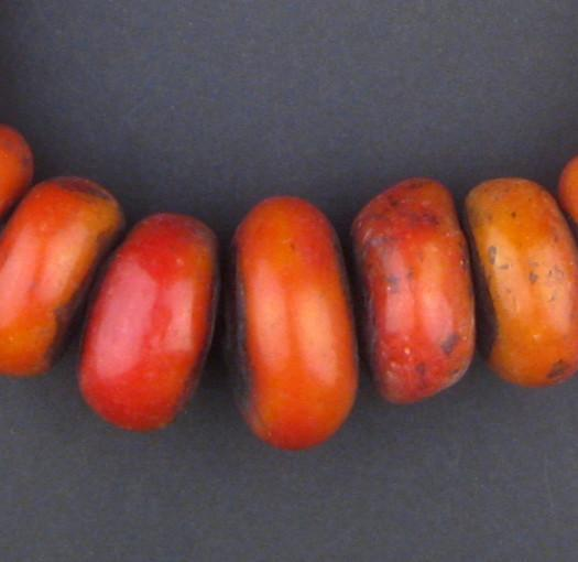 Moroccan Cherry Amber Resin Beads (Graduated) - The Bead Chest