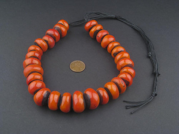 SHINY - Moroccan Cherry Amber Resin Beads (Petite)