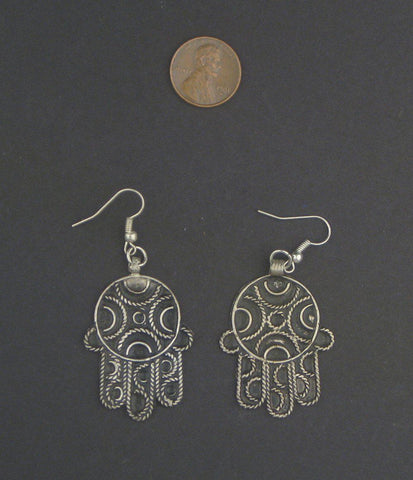 Moroccan Hamsa Earrings - The Bead Chest