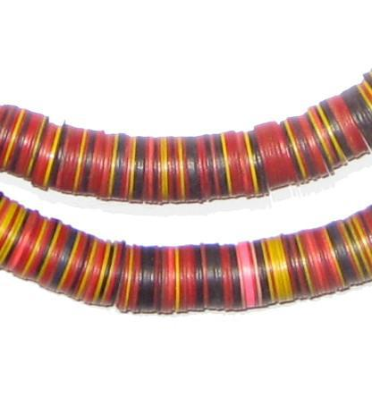 Vintage African Medley Vinyl Phono Record Beads (10-12mm) - The Bead Chest