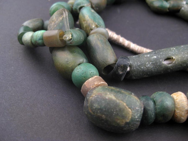 Old African Amazonite Stone Beads