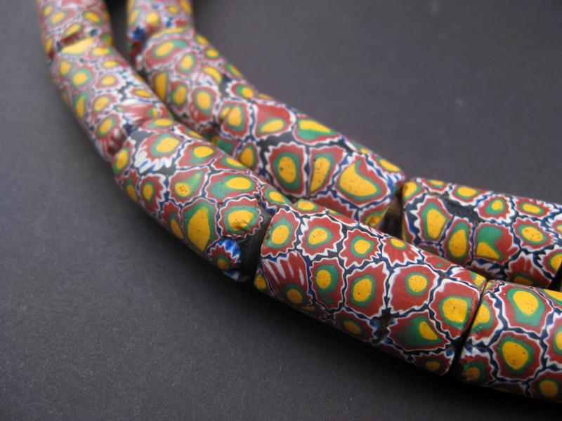 Jumbo Antique Matching Venetian Millefiori African Trade Beads (Long Strand) - The Bead Chest