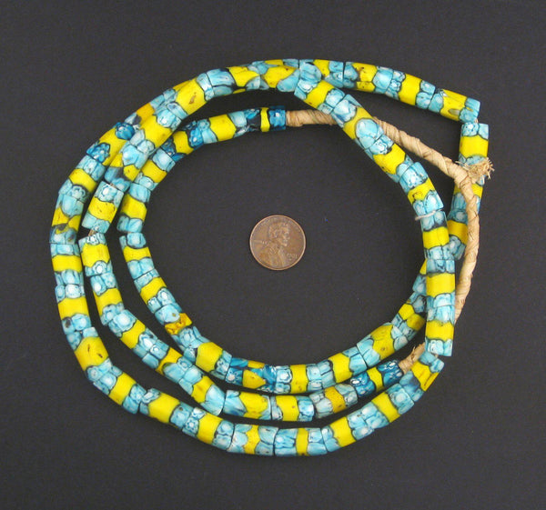 Antique Matching Venetian Millefiori African Trade Beads (Long Strand) - The Bead Chest