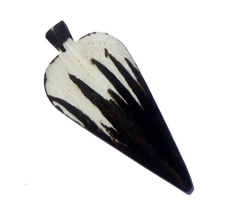 Zig-Zag Arrow Batik Bone Pendant - The Bead Chest