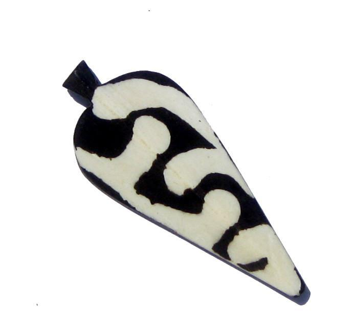 Traditional Batik Bone Arrow Pendant - The Bead Chest