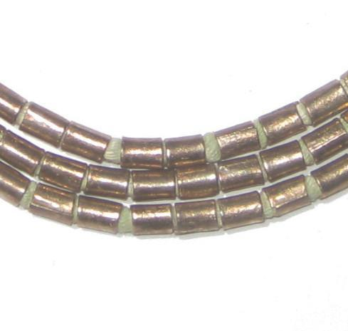 Ethiopian Silver Tube Beads (3mm) - The Bead Chest