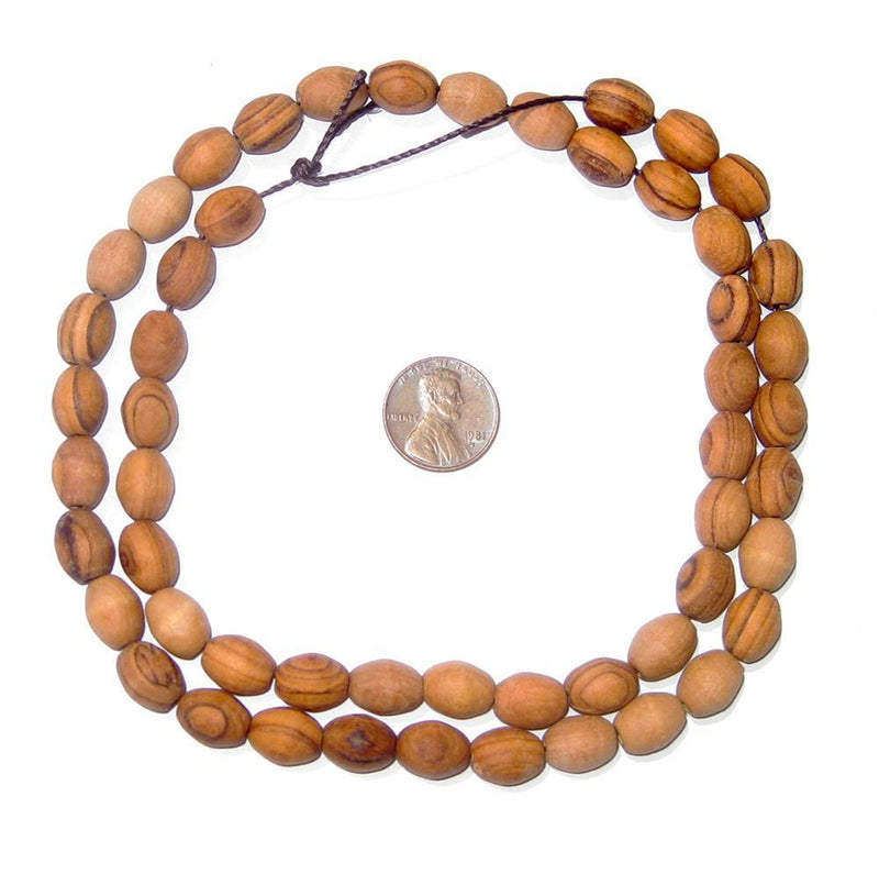 Authentic Rosary Olive Wood Beads from Bethlehem (11x8mm) - The Bead Chest
