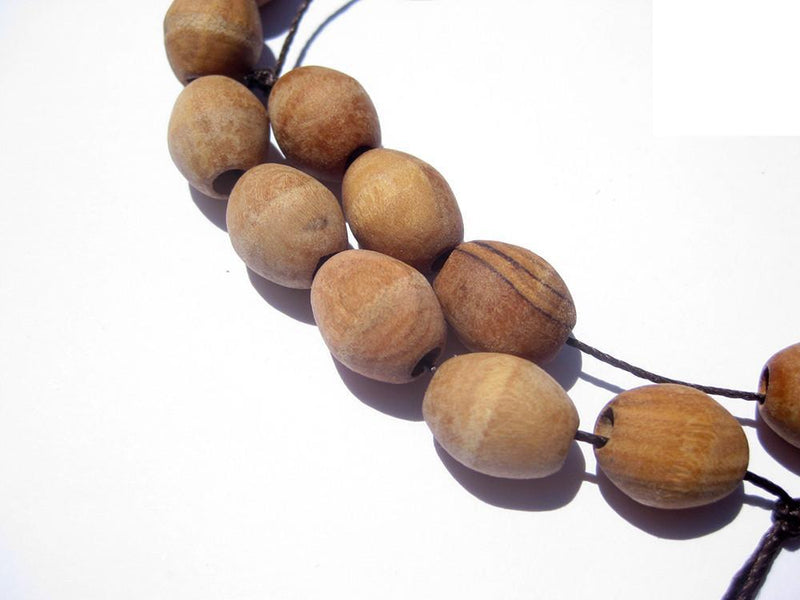 Authentic Rosary Olive Wood Beads from Bethlehem (15x12mm) - The Bead Chest