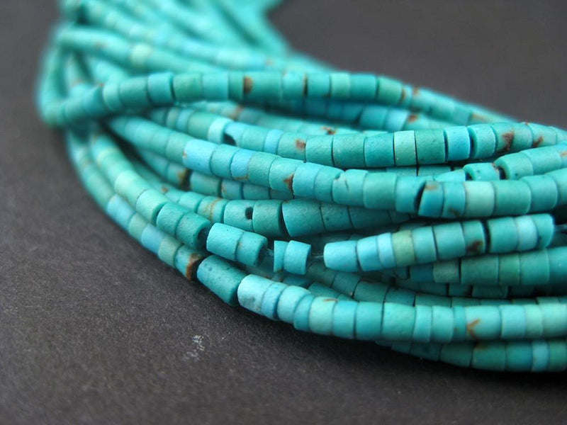 Turquoise Tiny Heishi Beads - The Bead Chest