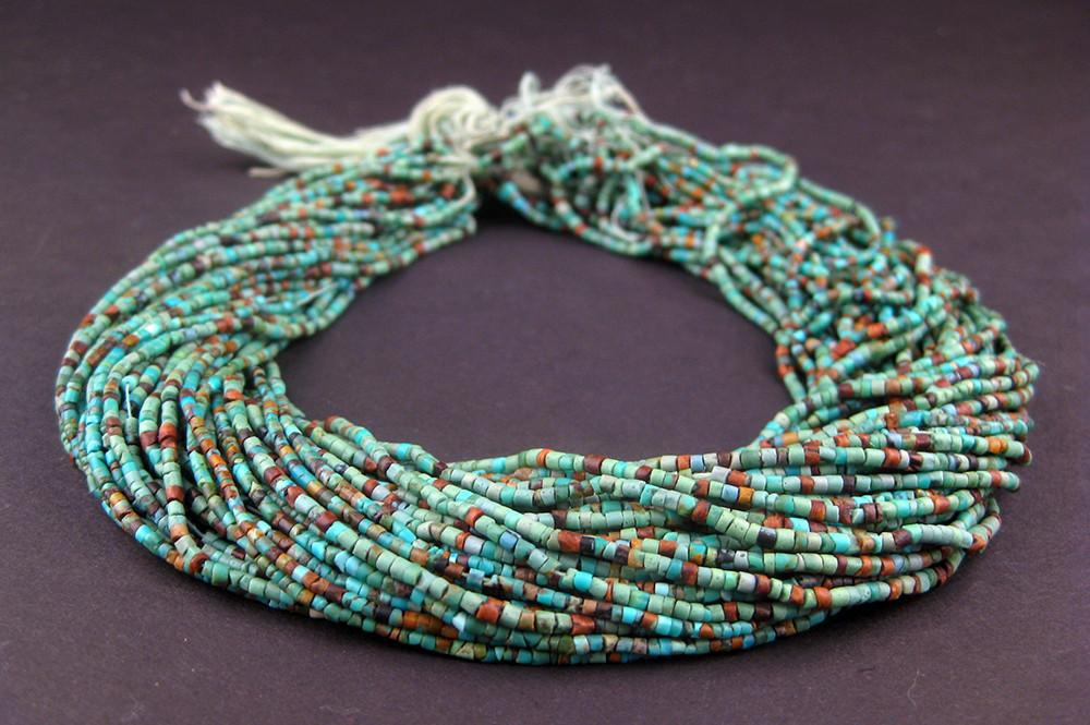 Dark Turquoise Tiny Heishi Beads (2mm) - The Bead Chest