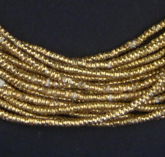 Brass Heishi Ethiopian Beads (2.5-3mm)