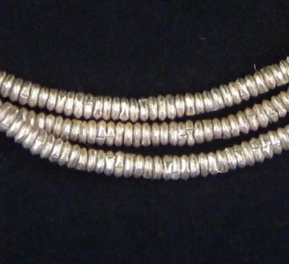 Silver Heishi Ethiopian Beads (3mm) - The Bead Chest