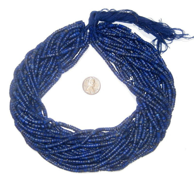 Lapis Lazuli Cylinder Beads (3mm) - The Bead Chest