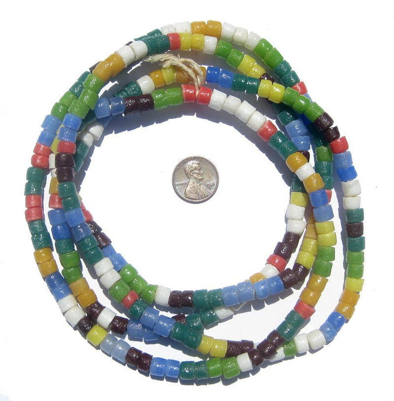 Spring Medley Sandcast Cylinder Beads - The Bead Chest