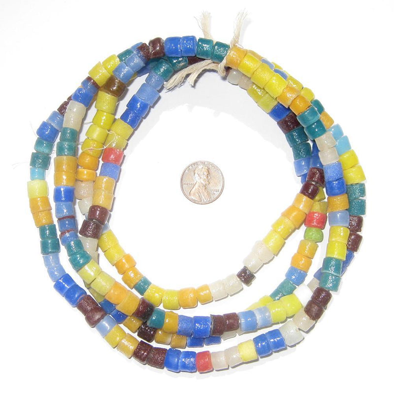 Summer Medley Sandcast Cylinder Beads - The Bead Chest
