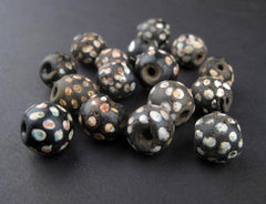AWAITING REVIEW: Antique Black Skunk Venetian Eye Trade Bead (Loose bead) - The Bead Chest