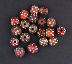 Antique Red Skunk Venetian Eye Trade Bead (Loose bead)
