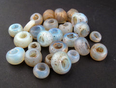 Antique Dutch Moon Beads from Ethiopia - The Bead Chest