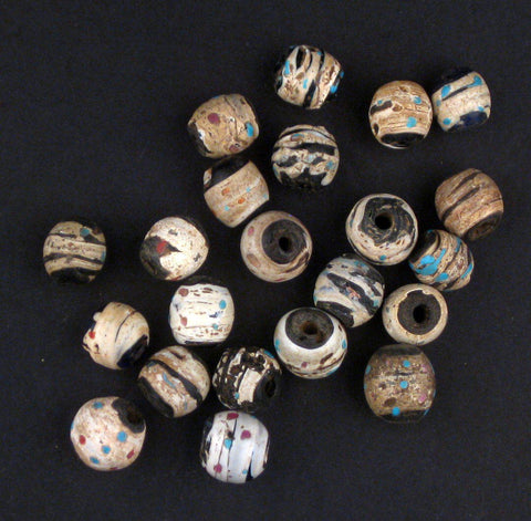 AWAITING REVIEW: Antique Venetian African Scratch Trade Beads (Loose Bead) - The Bead Chest