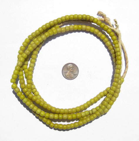 Old Yellow Kenya Turkana Beads - The Bead Chest