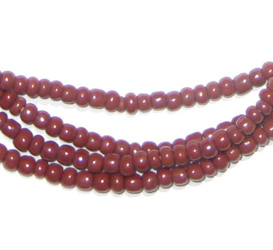 Chocolate Brown Glass Beads (2 Strands) - The Bead Chest
