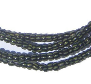 Black Forest Ghana Chevron Beads - The Bead Chest