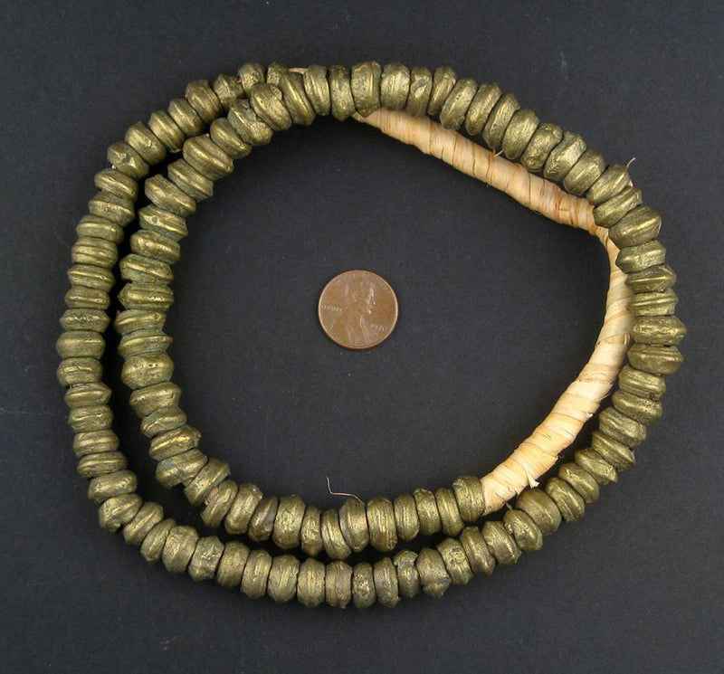 Old Nigerian Brass Rings - The Bead Chest