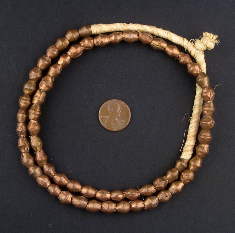 Cameroon Copper Bicone Beads - The Bead Chest