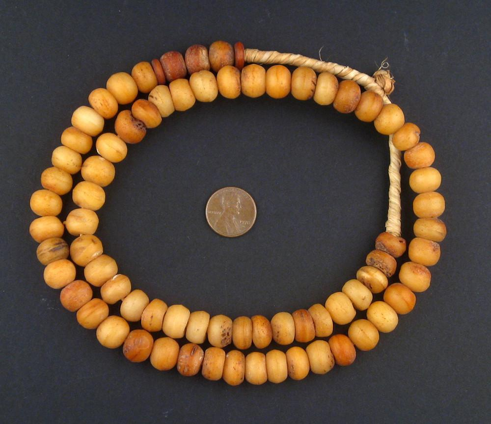 Round Nigerian Bone Beads (12mm) - The Bead Chest