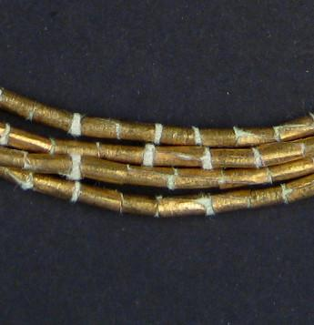 Brass Ethiopian Tube Beads (6x4mm) - The Bead Chest