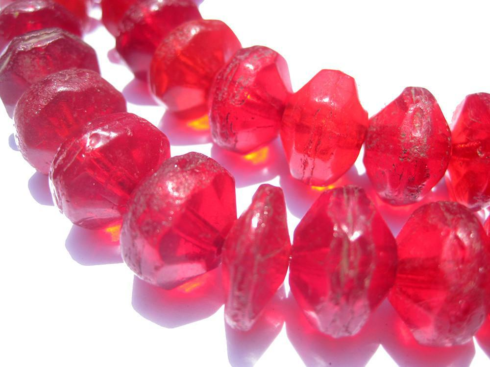 Vintage Red Vaseline Beads - The Bead Chest