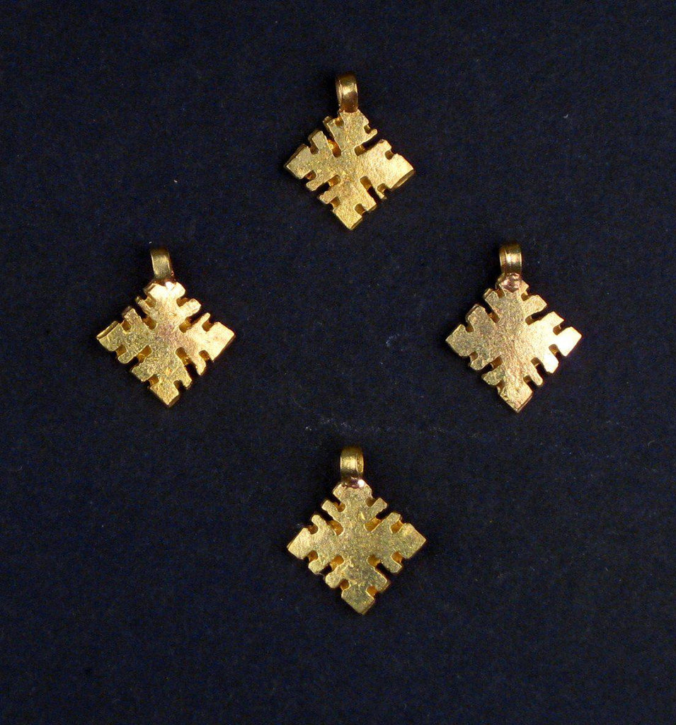 Brass Ethiopian Ornaments (Set of 4) - The Bead Chest
