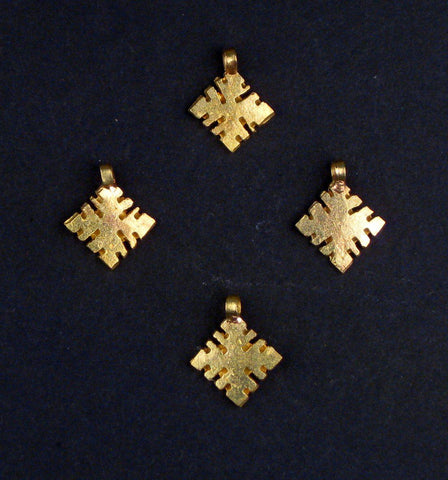 Image of Brass Ethiopian Ornaments (Set of 4) - The Bead Chest