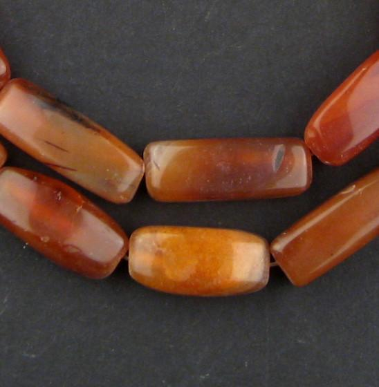 Rectangular Authentic African Carnelian Beads - The Bead Chest