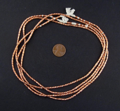 Image of Copper Tube Ethiopian Beads (3x2mm) - The Bead Chest