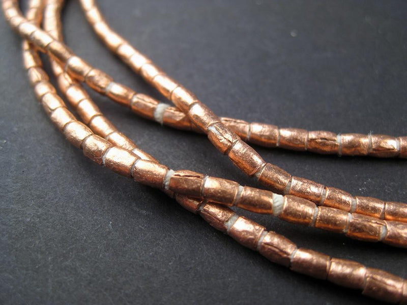 Copper Tube Ethiopian Beads (3x2mm) - The Bead Chest