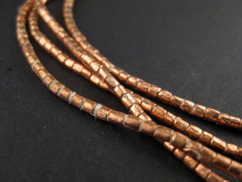 Copper Tube Ethiopian Beads (2x2mm) - The Bead Chest