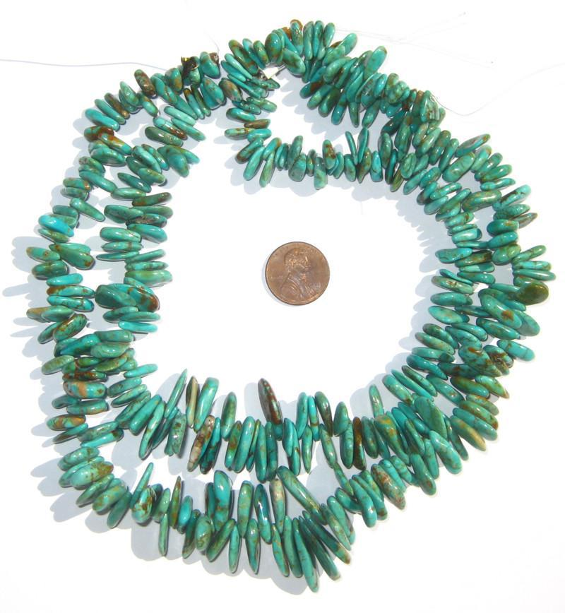 Authentic Turquoise Stone Teardrop Beads - The Bead Chest
