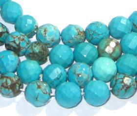 Authentic Turquoise Faceted Stone Beads - The Bead Chest