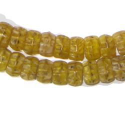 Yellow Kakamba Prosser Beads - The Bead Chest