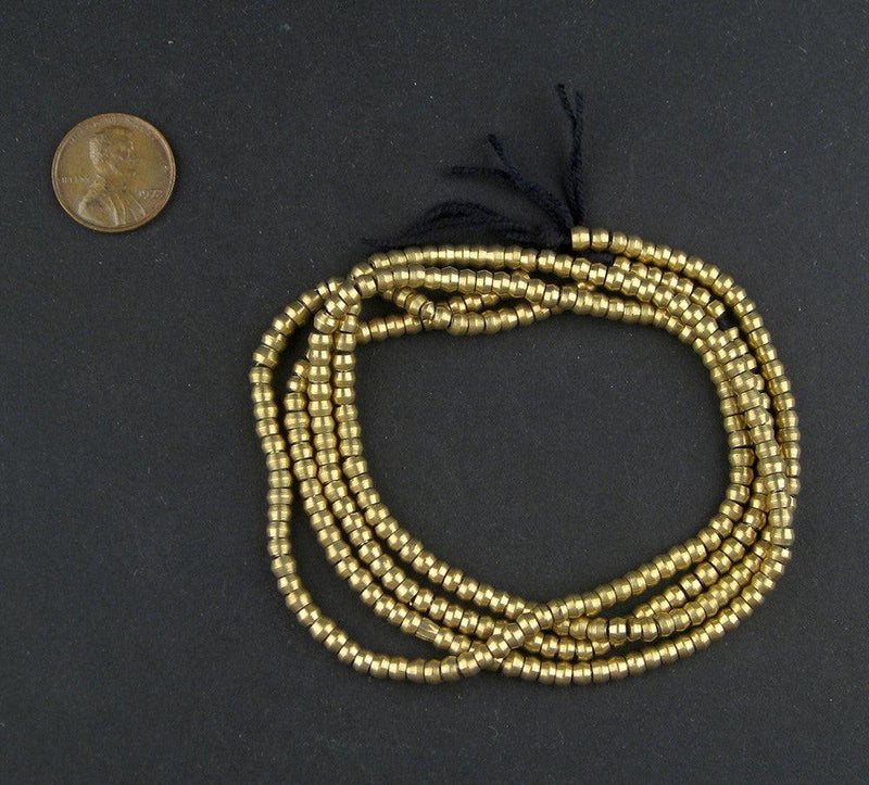 Truncated Brass Heishi Beads - The Bead Chest