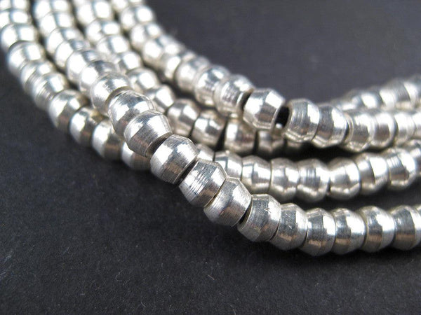 Truncated Silver Heishi Beads