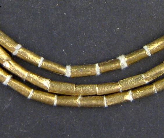 Brass Ethiopian Tube Beads (7x3mm) - The Bead Chest