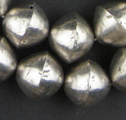 Mali Silver Bicone Beads (22x24mm) - The Bead Chest